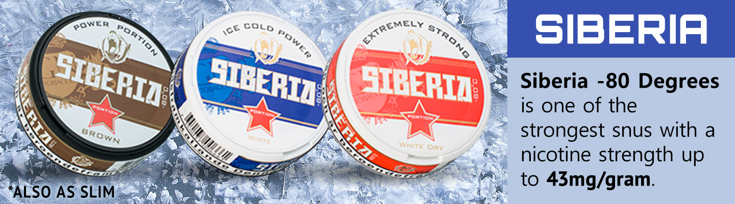 Buy Siberia Extreme Strong snus